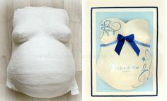 before & after - By Julia Schulze www.babybauch-abdruecke.de