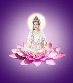 The Goddess of mercy La Compassion, Mahayana Buddhism, Om Mani Padme Hum, Ascended Masters, Buddha Art, Guanyin, Bodhisattva, Gods And Goddesses, Chinese Art