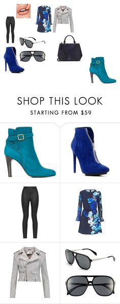 Blue in the City by carolyn-mcivor on Polyvore featuring Sistaglam, W118 by Walter Baker, Armani Jeans, Michel Vivien, Michael Antonio, Lord & Taylor, Alexander McQueen and chic