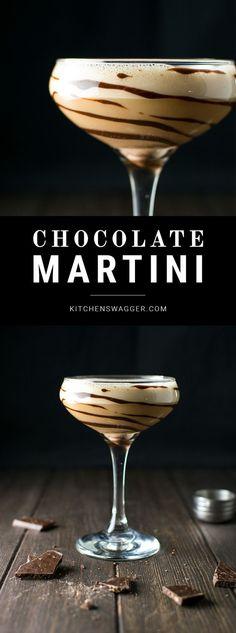 The chocolate martini is the ultimate dessert martini. Made with vanilla vodka and both Godiva dark chocolate and chocolate liqueurs.