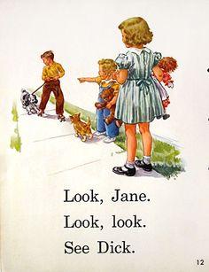 Original 1950s Dick and Jane