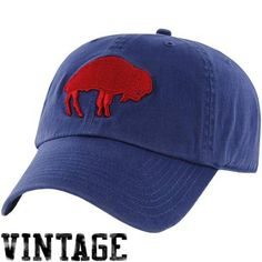 '47 Brand Buffalo Bills Throwback Franchise Fitted Hat - Royal Blue