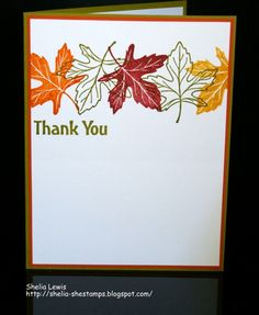 Fall Thank You by shelia - Cards and Paper Crafts at Splitcoaststampers