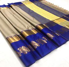 Blue Cotton Silk saree with Rich Mayurika Border – sf000467