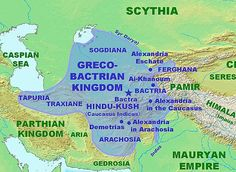 As early as 2200 BC, ancient Bactria was centered in present-day Northern Afghanistan. Important trade routes from India and China (including the Silk Road) passed through Bactria and created vast wealth. In the 6th century BC the Bactrians were conquered by the Persians, and in the 4th century BC by the Ancient Macedonians. From around 304 BC the area formed part of the Seleucid Empire, and from around 250 BC it was the centre of a Greco-Bactrian kingdom, ruled by descendants of Greeks
