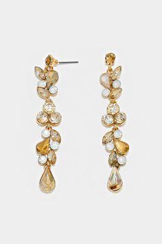 Crystal Juniper Earrings in Champagne Iridescence ==