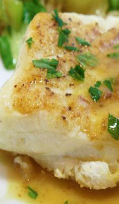 Our Thanksgiving dinner - Chilean Sea Bass with a Pineapple-Dijon Pan Sauce Fish Recipes, Seafood Recipes, Great Recipes, Dinner Recipes, Favorite Recipes, Halibut Recipes, Chilean Sea Bass Recipe Baked, Seafood Dinner, Seafood