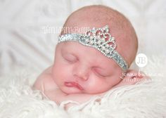 Baby Headband, Princess Tiara Headband, Baby Tiara, Princess Headband,Baptism headband, Christening Headband,Hair bows on Etsy, $8.95