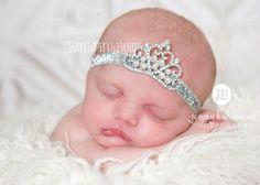 Baby Headband, Princess Tiara Headband, Baby Tiara, Princess Headband,Baptism headband, Christening Headband,Hair bows on Etsy, $8.95
