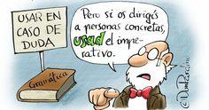 El profesor don Pardino: viñetas para enseñarte lengua española en Twitter - Yorokobu