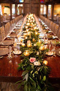 Long Table Garland Centerpiece | Kristen Weaver Photography