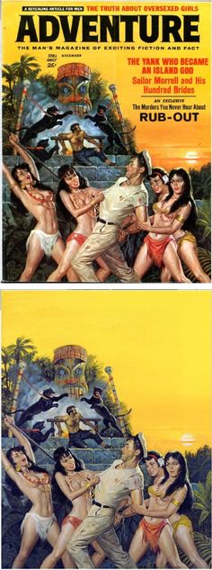 RAFAEL M. DeSOTO - The Yank Who Became An Island God - Dec 1961 Adventure - items by pulpcovers