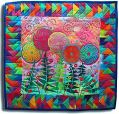 Pinwheels on Parade art quilt wall hanging by MelodyJohnsonQuilts