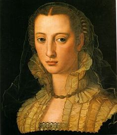 Portrait of a Woman found in the Uffizi, dated around 1550-65 and possibly by Alessandro Allori.