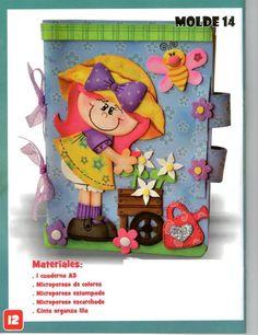 http://manualidadesamigas.foroargentina.net/forumCuaderno con niña de Mujer Creativa