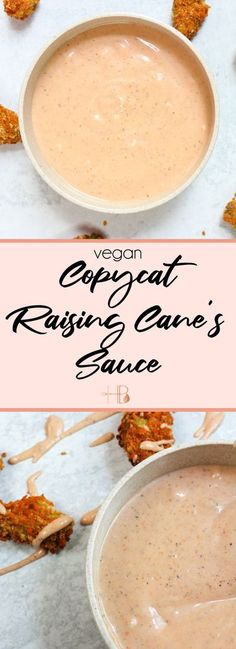 This homemade vegan copycat Raising Cane's sauce recipe is easy to prepare and is the best dipping sauce you'll ever make! Excellent for tailgating, barbecuing, or dipping all the things! Vegan Sauces, Vegan Foods, Vegan Dishes, Food Dishes, Side Dishes, Best Vegan Recipes, Vegetarian Recipes, Healthy Recipes, Raising Cane Sauce Recipe