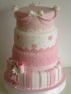 Torta Monica | Flickr: Intercambio de fotos                                                                                                                                                      Más Pretty Cakes, Beautiful Cakes, Amazing Cakes, Fondant Cakes, Cupcake Cakes, Cupcakes Decorados, Big Wedding Cakes, Just Cakes, Girl Cakes