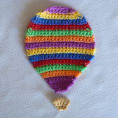 Crochet Spot » Blog Archive » Crochet Pattern: Striped Hot Air Balloon Applique - Crochet Patterns, Tutorials and News