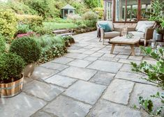 Everything you need for a garden makeover. Bradstone Paving, Outdoor Paving, Concrete Paving, Garden Paving, Cottage Garden Patio, Garden Floor, Diy Pergola, Pergola Ideas, Patio Ideas