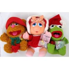 McDonald's Muppet Christmas plush toys - I had Piggy and my brother had Fozzie.