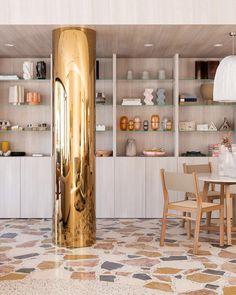Jardan's Stunning New Perth Showroom Is A Terrazzo Palace! Terrazzo Flooring, Grey Flooring, Flooring Ideas, Concrete Floors, Australian Architecture, Australian Homes, Jardan Furniture, Furniture Design, Perth