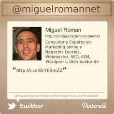 @miguelromannet's Twitter profile courtesy of @Pinstamatic (http://pinstamatic.com)