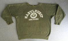 RARE 50s 60s CHAMPION KNITWEAR Shirt MARYLHURST Vtg Sweater Runner Tag Cotton XL