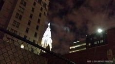 """Cool Photo: The """"Billy Penn Signal"""" Above City Hall"""