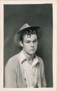 When I imagine Curley from Of Mice and Men I obviously imagine a man with curly hair. Also, I see Curley as a brat, and this picture shows that.a thin young man with a brown face, with brown eyes and a head of tightly curled hair. Vintage Photographs, Vintage Photos, Vintage Prints, Heber Springs, Local Photographers, Of Mice And Men, Curly Hair Men, Black And White Portraits, Man Photo