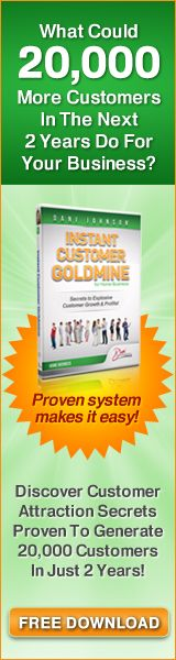 Get your free report on How To Add 20,000 Customer For Your Business - Click Image to Get Started!  #HomeBusiness