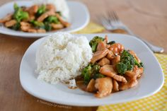 Chinese Chicken and Broccoli | A Teaspoon of Happiness