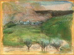 Olive Trees Against a Mountainous Background,c. 1890-1892-Edgar Degas (photo BoFransson)