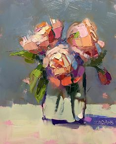 Pink Posies by Trisha Adams Oil ~ 10 x 8 - Art ideas Oil Painting Flowers, Abstract Flowers, Painting & Drawing, Abstract Art, Abstract Flower Paintings, Painting Lessons, Painting Tips, Paintings I Love, Art Paintings