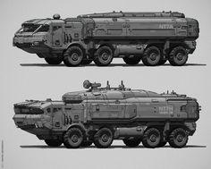 Artstation - srbm system, andrei abramenko sci-fi vehicle in Military Gear, Military Weapons, Army Vehicles, Armored Vehicles, Concept Ships, Concept Cars, Cyberpunk, Spaceship Design, Truck Art