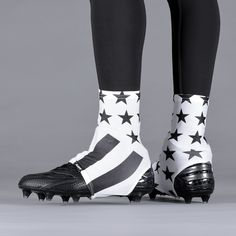 fb1734f02da Tactical White USA Flag Spats   Cleat Covers
