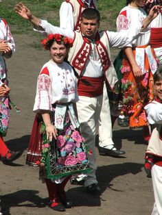 Men's and Women's National Costumes from Bulgaria