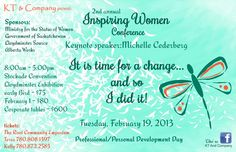 Inspiring Women Conference - February 19, 2013, Lloydminster