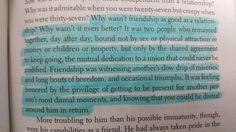 Friendship. A little life by Hanya Yanagihara