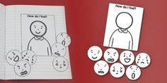 How Do I Feel Interactive Visual Aid - feelings, emotions, feel - twinkl