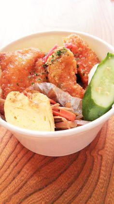 たれかつ丼 新潟名物タレカツをアレンジ。トンカツだけでなくカボチャとアボカドのたれかつが美味しい♡もちろん、ご飯は佐渡産のコシヒカリ。自家製ぬか漬け付き!