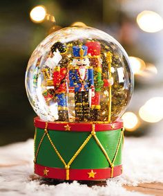 Take a look at this Nutcracker Snow Globe by Evergreen on #zulily today!