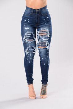 Denim Dreams Jeans - Medium Blue Follow @Bossyrodriguez for more pins