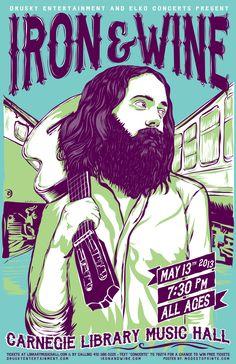 Iron and Wine poster #DuVino #wine www.vinoduvino.com