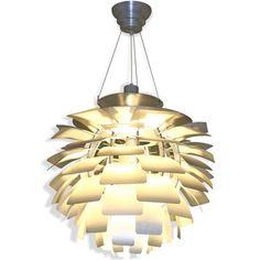 Artichoke Style Modern Silver 28-inch Chandelier Lamp   Overstock.com