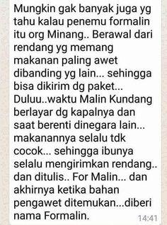 Kisah ditemukannya pengawet formalin... oleh orang Minang.