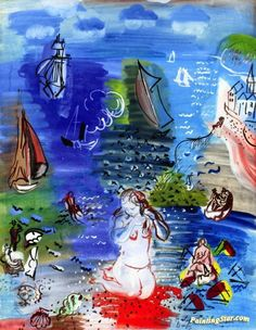 Amphitrite Artwork by Raoul Dufy Hand-painted and Art Prints on canvas for sale,you can custom the size and frame