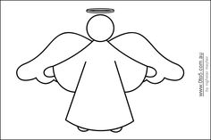 angel templates for angel trees | This template shows a Christmas Angel to colour and the same template ...copy onto light blue paper for men and pink for women