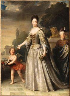 1709 Marie-Adelaide de Savoie, duchesse de Bourgogne by Jean-Baptiste Santerre (Versailles)