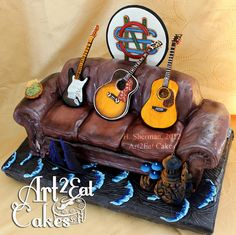 Crosby Stills & Nash, Old Red Couch - Cake by Heather -Art2Eat Cakes- Sherman