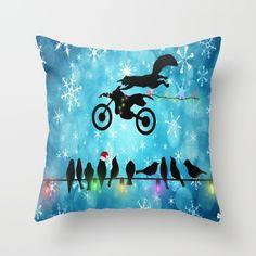 Funny Christmas pillow Yeeeehawww by Tjc555